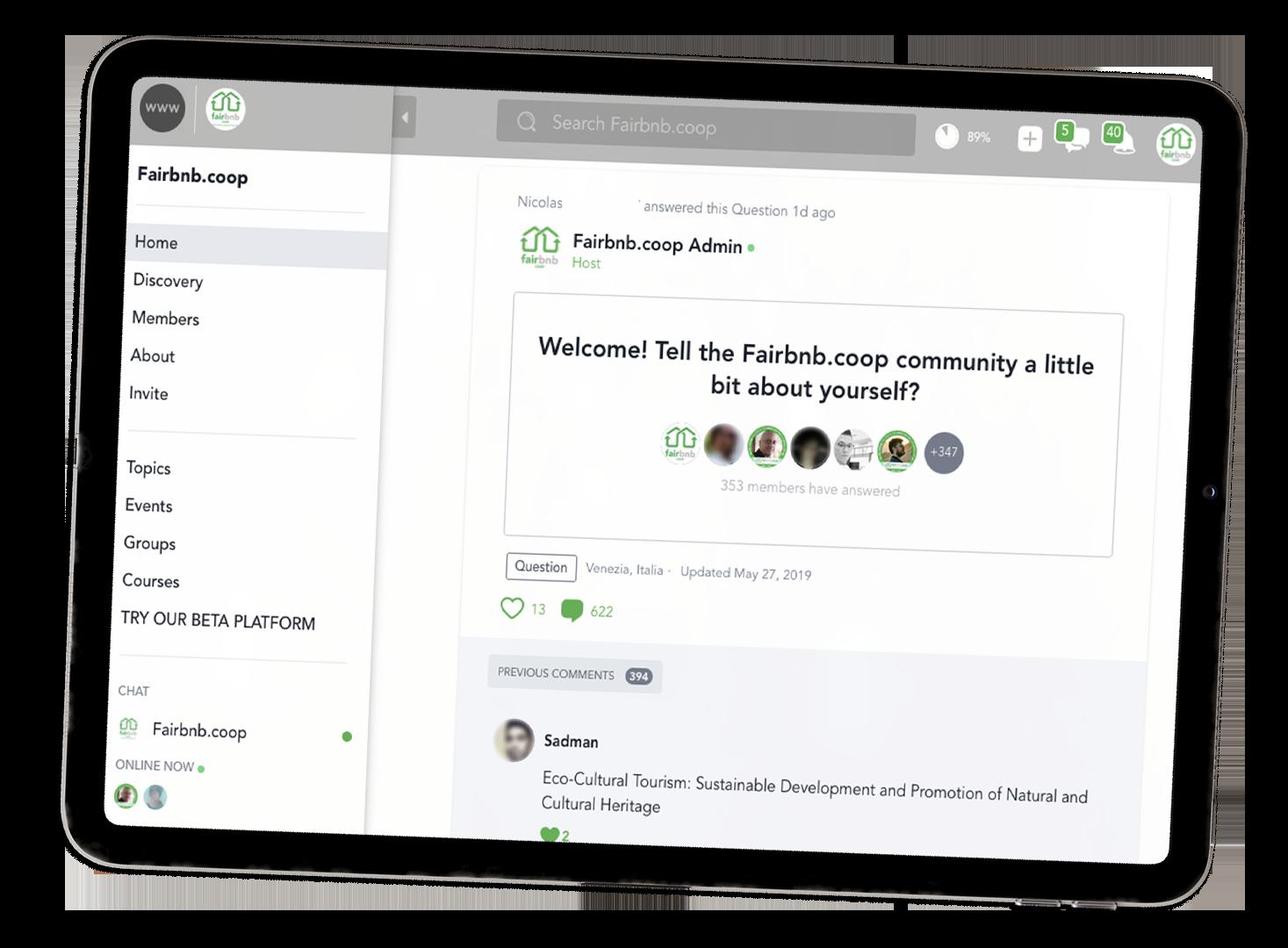 Unisciti alla comunità @ Fairbnb.coop